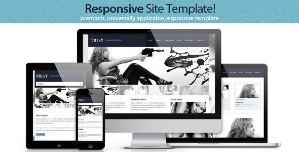 Trixy - Responsive Site Template Entertainment