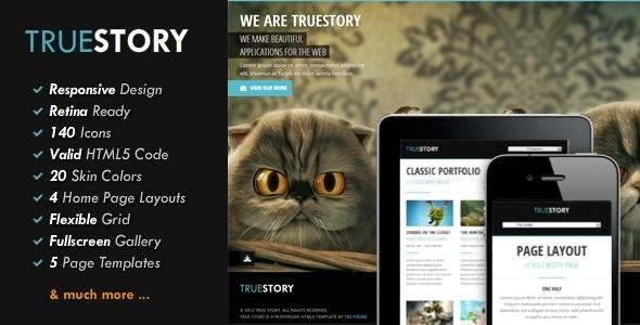 TrueStory - Fullscreen HTML5 Template Creative
