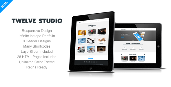Twelve Studio - Responsive Multipurpose Template Corporate