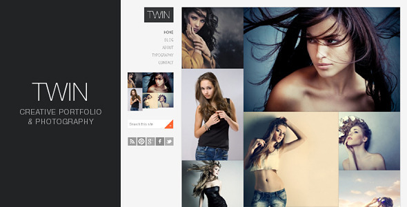 Twin - Creative Portfolio and Photography WordPress Creative