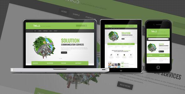 Twins - Corporate Business HTML Template Corporate