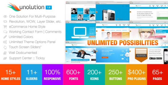 UNOLUTION One Complete Solution - Responsive HTML5 Template