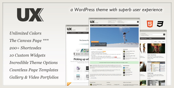 UX - User First WordPress Blog/Magazine