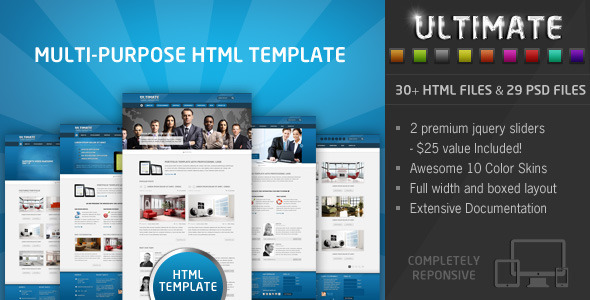 Ultimate - Multi Purpose Responsive HTML Template Corporate