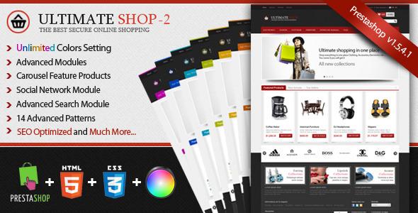 Ultimateshop Pro2 - Prestashop 1.5 Template Shopping