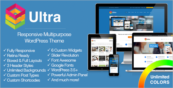 Ultra Responsive Multipurpose WordPress Theme Corporate