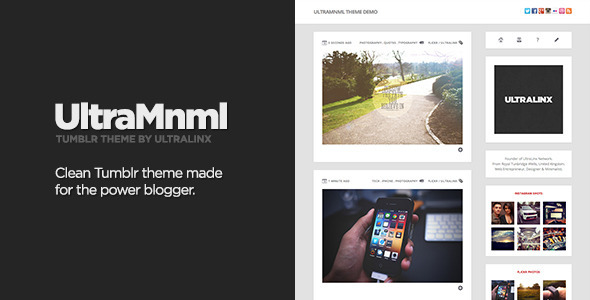 UltraMnml - Clean & Responsive Tumblr Theme