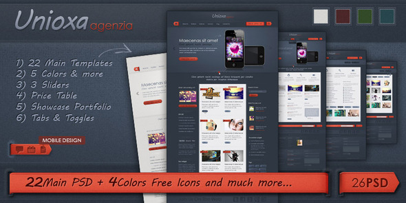 Unioxa PSD Theme: Portfolio/Agency/Business Creative PSDTemplates