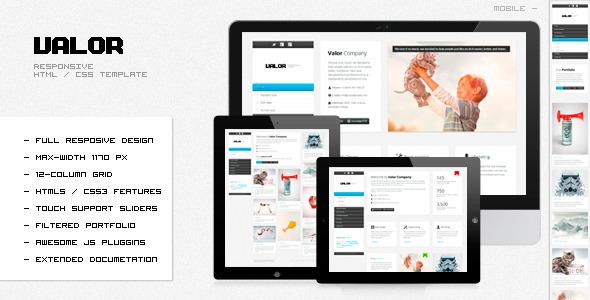 VALOR - Responsive HTML Template Creative
