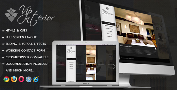 VIP Interior - Fullscreen Onepage Template Creative