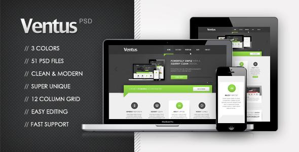 Ventus - Unique Multi Purpose Theme PSD Corporate