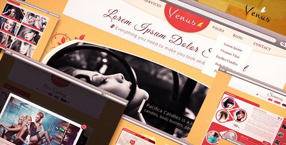Venus - Beauty Center PSD Template Retail