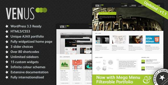 Venus: Business & Portfolio WordPress Theme Corporate