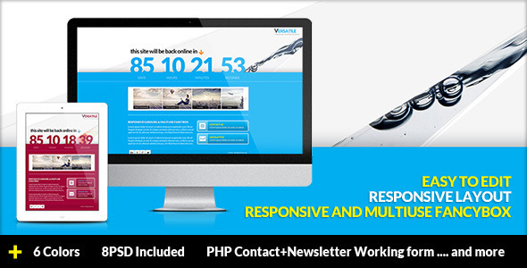 Versatile - Responsive Multi-use Coming Soon page Template