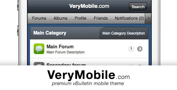 VeryMobile - a vBulletin 4.x skin Forums vBulletin