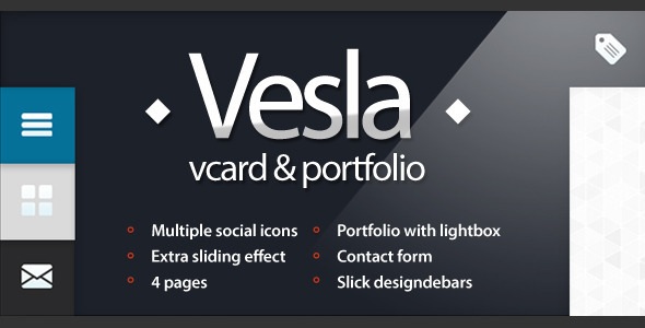 Vesla - Vcard and Portfolio Html Template Personal