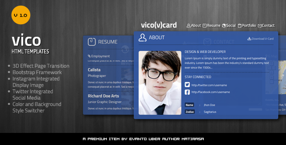 Vico V Card Template Personal