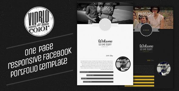 Vidro De Color - Responsive Facebook Template Creative