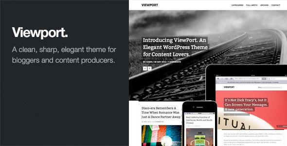 Viewport: Responsive Magazine WordPress Theme Blog/Magazine