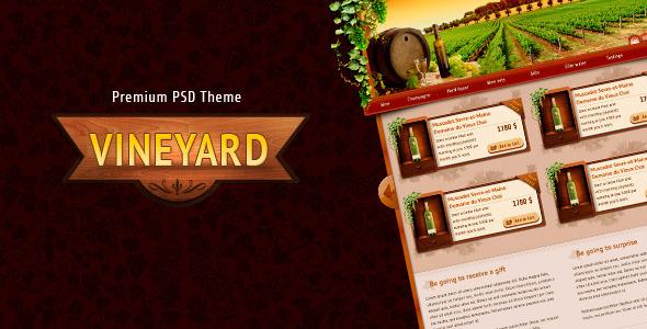 Vineyard - premium PSD Retail