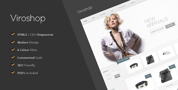 Viroshop - A Modern Responsive eCommerce Template Retail