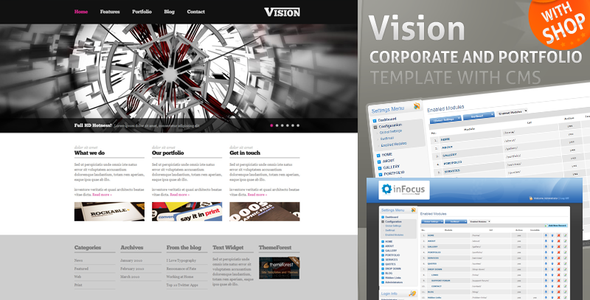 Vision - Corporate Template with CMS and Shop