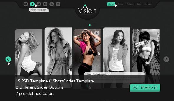 Vision Portfolio, Photography Template Creative PSDTemplates