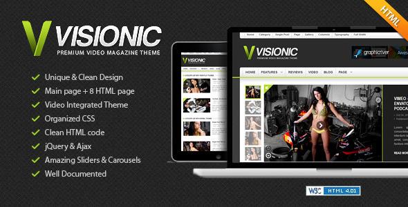 Visionic Video Magazine HTML Template Creative
