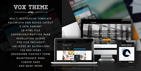 Vox Theme - Clean and Modern Corporate Template Corporate