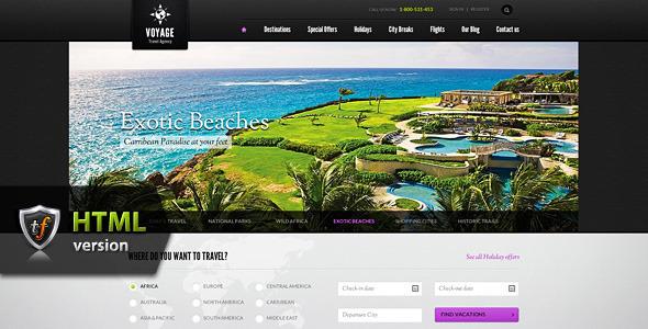 Voyage - Travel Agency HTML Theme Template Retail