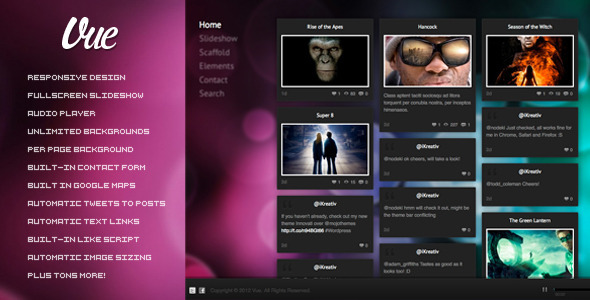 Vue Responsive WordPress Theme Creative