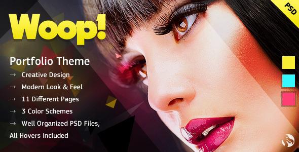 WOOP! - Creative Portfolio PSD Template Creative