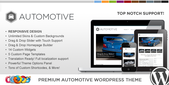 WP Pro Automotive Responsive WordPress Theme Corporate