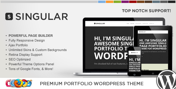 WP Singular - One Page Responsive WordPress Theme Creative