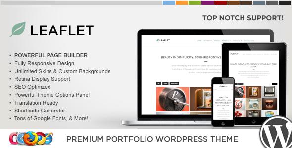 WP Leaflet - Responsive Multipurpose Theme WordPress Creative