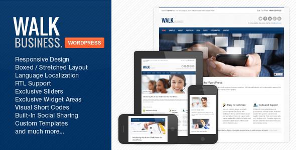 Walk - Responsive Business WordPress Theme Corporate
