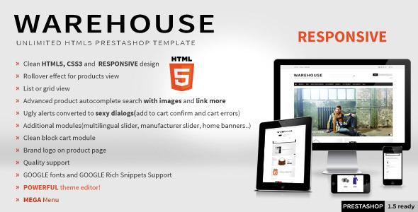 Warehouse - Responsive HTML5 Prestashop Theme Shopping