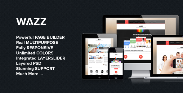Wazz - Responsive MultiPurpose Theme WordPress Creative