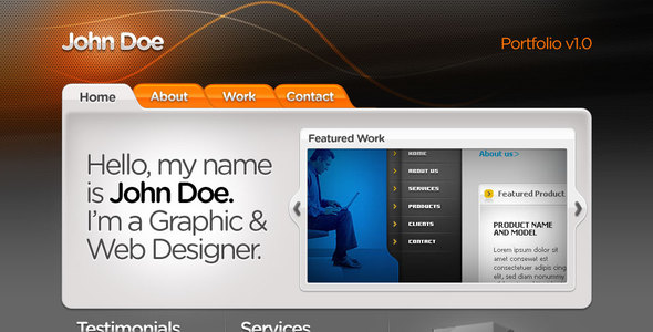 Web Designer Portfolio template Creative PSDTemplates
