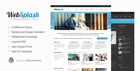 Web Splash - Premium WordPress Theme Corporate