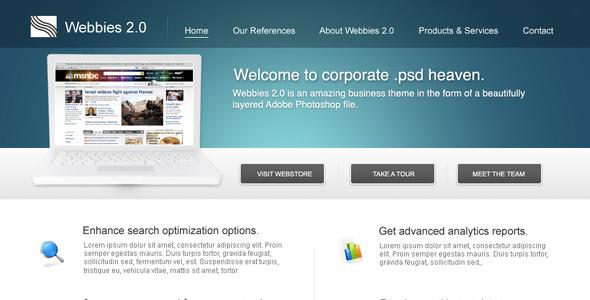 Webbies v2 Corporate PSDTemplates