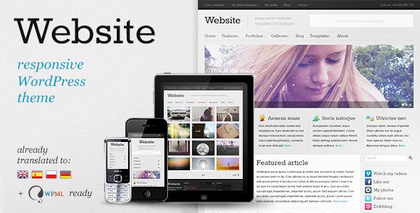 Website - responsive WordPress theme Blog/Magazine