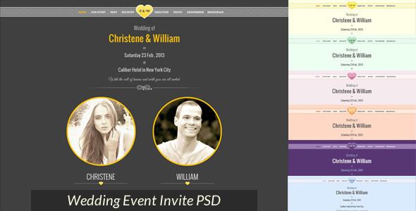Wedding Event Invite PSD Miscellaneous