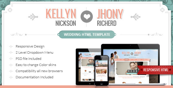 Wedding HTML template Entertainment