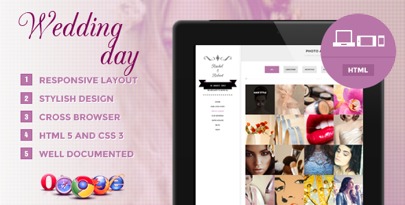 Wedding Day - Responsive HTML Theme