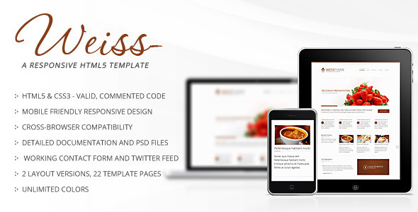 Weiss - Responsive HTML5 Template Corporate