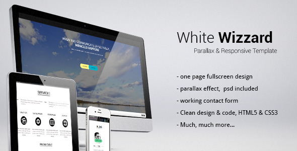 White Wizzard -  Parallax & Responsive Template Creative