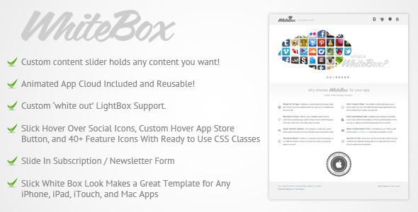 WhiteBox App Landing Page Template LandingPages Landing Page
