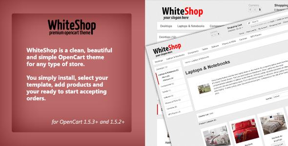 WhiteShop - Opencart 1.5.2 Theme