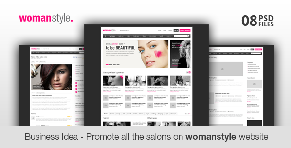 WomanStyle - Business Idea for You PSD Corporate